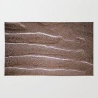 sand Area & Throw Rugs featuring sand by  Agostino Lo Coco