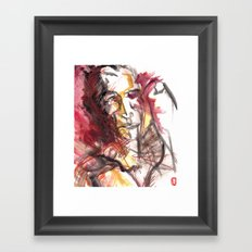 struggle and thought Framed Art Print