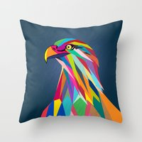 eagle Throw Pillows featuring Eagle by mark ashkenazi