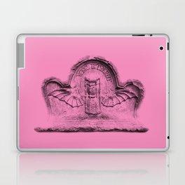 Pink goth tombstone detail Laptop & iPad Skin