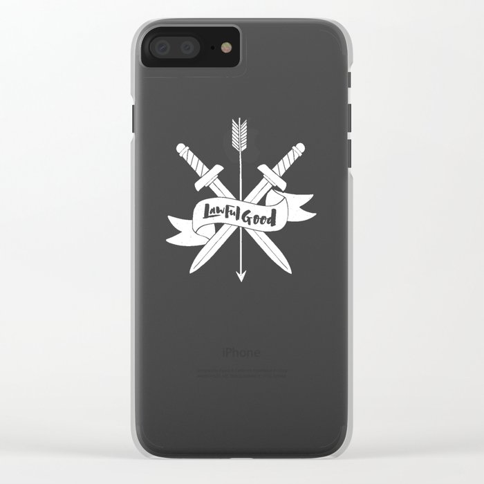 LAWFUL GOOD Clear iPhone Case