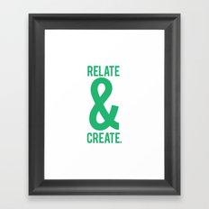 Relate & Create (Green) Framed Art Print