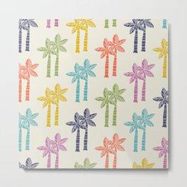 Palm Tree Pattern 22 Metal Print