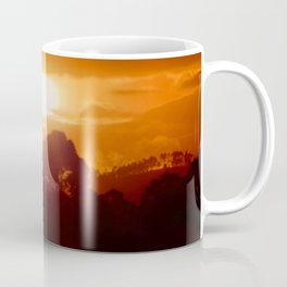 Sunset on the wild forest in the Andes Mountains Coffee Mug