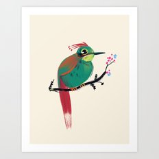 Green Bird Art Print