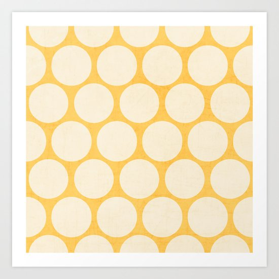 yellow and white polka dots by herart
