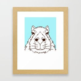 Cool as a Capybara Framed Art Print