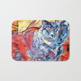 The TORTIE from our FUNK YOUR FELINE line Bath Mat