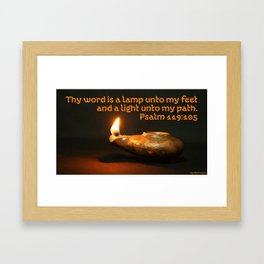 Light Unto My Path Framed Art Print