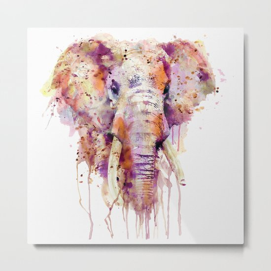 Elephant Head Metal Print