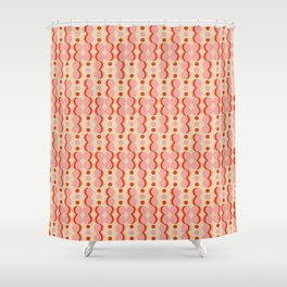 Uende Love - Geometric and bold retro shapes Shower Curtain