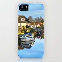 Towpath Into Hungerford iPhone Case