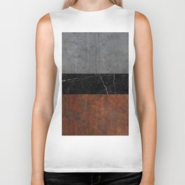 Concrete, Marble and Rusted Iron Abstract Biker Tank