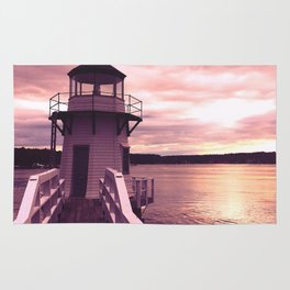 Pink Sky Over Doubling Point Light Rug