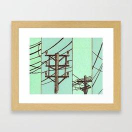 Nebraska Power Lines Framed Art Print