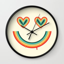 Happy Rainbow Wall Clock