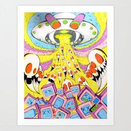 Resurrection Of Dead Technology Art Print