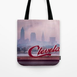 Homesick - Cleveland Skyline Tote Bag
