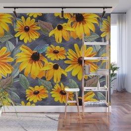 Black-eyed Susan Pattern Wall Mural