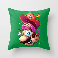Super Shroomed Throw Pillow