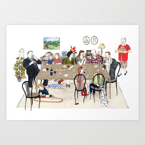 Family Dinner Art Print