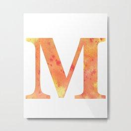 Letter M Art/ Initial M/ Monogram Metal Print
