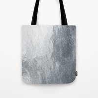 silver Tote Bags featuring Silver by Patterns and Textures