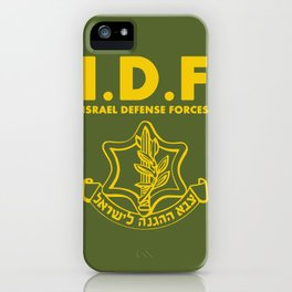 IDF Israel Defense Forces - with Symbol - ENG iPhone Case