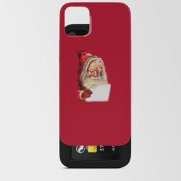SANTA CLAUS READING A LETTER iPhone Card Case