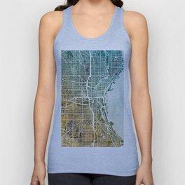 Milwaukee Wisconsin City Map Unisex Tank Top