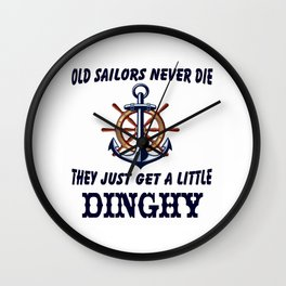 Old Sailors Wall Sign Wall Clock