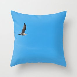 Alone in the sky Throw Pillow