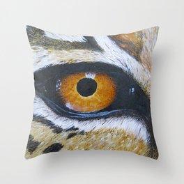 Eye See You Leopard Eye Throw Pillow
