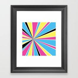CMYK Star Burst Framed Art Print