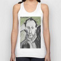 writer Tank Tops featuring Writer by black door