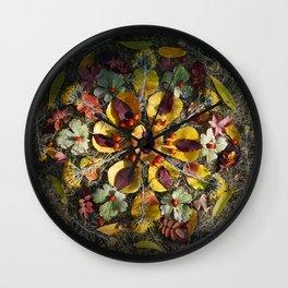 Nature Mandala: October 1 Wall Clock