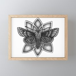 Moth Mandala Framed Mini Art Print