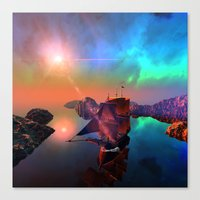 ship Canvas Prints featuring Ship  by nicky2342