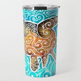 Swirly Turtle Travel Mug