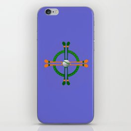 Hurley and Ball Celtic Cross Design - Solid colour background iPhone Skin