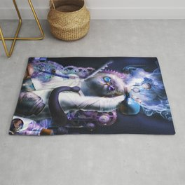 Evil Horror Kitty Cat Mad Scientist Rug