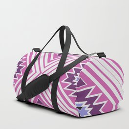 Cute shapes in pink Duffle Bag