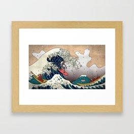 Surfin Japan Framed Art Print