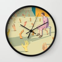 hands Wall Clocks featuring Hands by Nahal