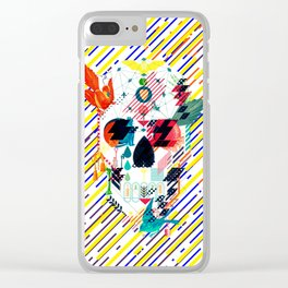 Abstract Skull Clear iPhone Case