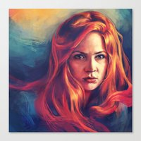 amy pond Canvas Prints featuring Amy Pond by Alice X. Zhang