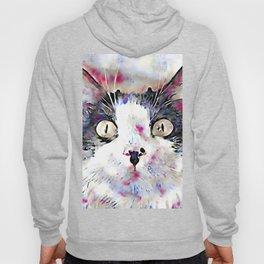 watercolor kitty Hoody