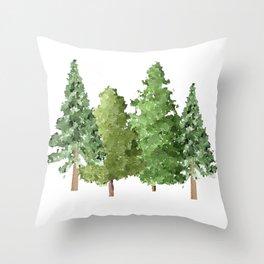 Christmas Pine Trees Throw Pillow