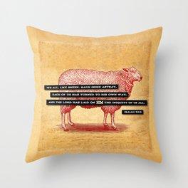 Like Sheep Throw Pillow