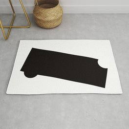 Black and White Element VII Rug